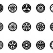 Stock Vector: Tire icons set