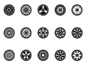 Tire icons set — Stock Vector
