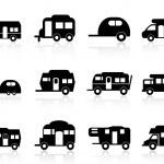 Caravan or camper van symbol — Stock Vector #14172107