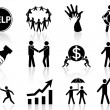 Business help icons — Stock Vector #14172137