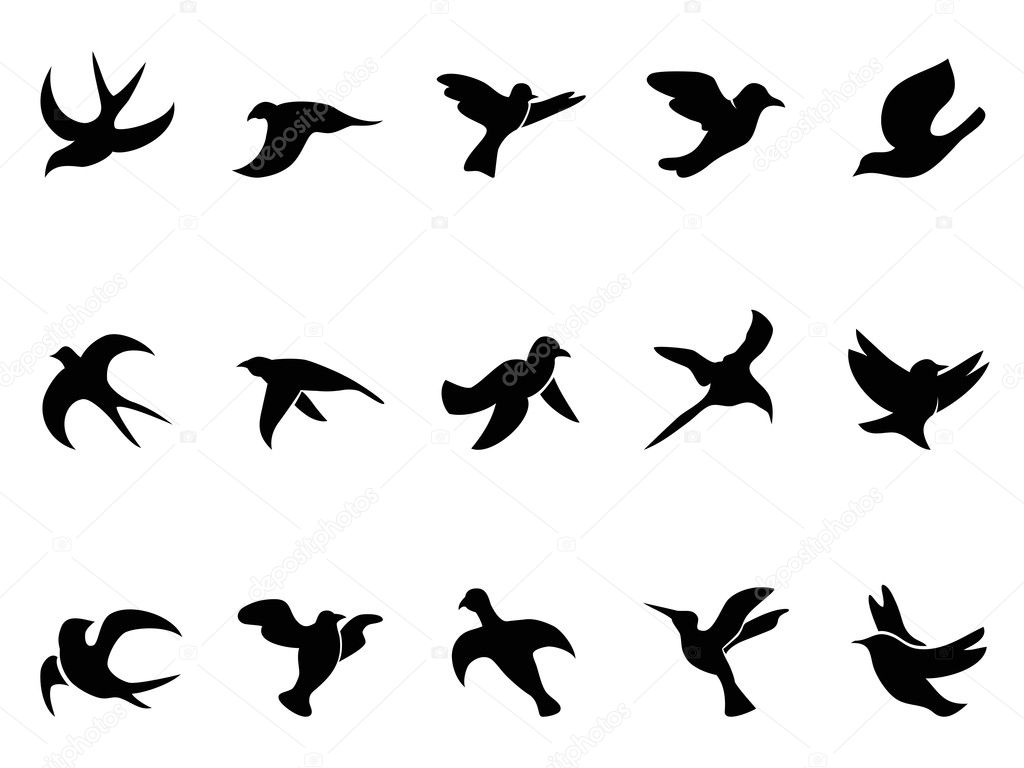 How to Draw a Bird Flying Simple Simple Flying Bird Silhouette