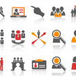 Job and human resource Icons set — Stock Vector