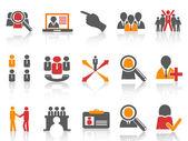 Baan en human resources pictogrammen instellen — Stockvector