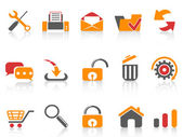 Web and internet icons set — Stock Vector