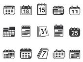Calendario conjunto de iconos — Vector de stock