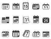Kalender icons set — Stockvektor