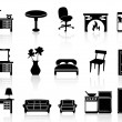 Black simple furniture icon — Stock Vector #18538673