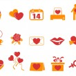 Royalty-Free Stock Vector Image: Simple color Valentines Day icons