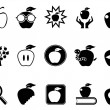Apple icons set — Stock Vector