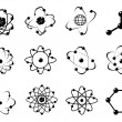 Atomic icons — Stock Vector #22481339