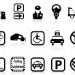 Car parking icons - Stock Vector
