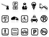 Car parking icons — Stock Vector