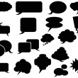 Black speech bubbles icons — Stock Vector