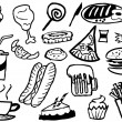 Royalty-Free Stock Vector Image: Doodle junk food background