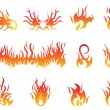 Stock Vector: Flame symbols