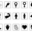 Human feature icons — Stock Vector
