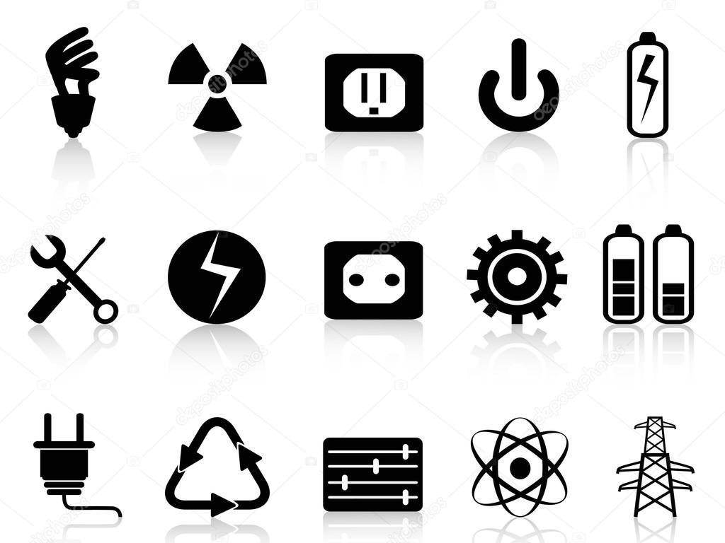 电力和电源图标集