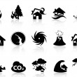 Stock Vector: Natural disaster icons set