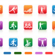 Sports buttons — Stock Vector