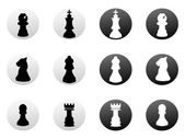 Chess icons set — Stock Vector