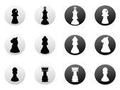 Ikony szachy — Wektor stockowy