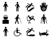 Injury icons set — Vettoriale Stock
