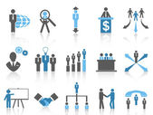 Business and Management Icons, blue series — Stock Vector