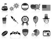 Fourth of July icons set — Stock Vector