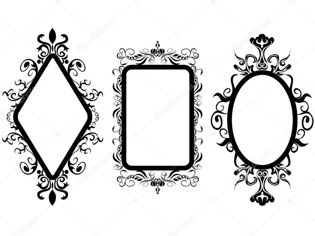Рамка для зеркал рисованная
