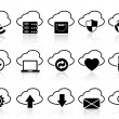 Stock Vector: Cloud with icons set