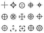 Crosshair icon — Stock Vector
