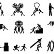 Teamwork icons set — Stock Vector #29813677