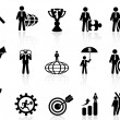 Business metaphor icons set — Stock Vector #29813701