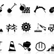 Heavy construction icons set — Stock Vector