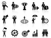 Business metaphor icons set — Stock Vector