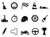 Motor race icons set — Stock Vector