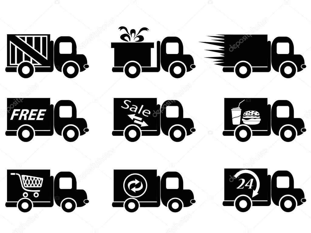 delivery truck icon vector - photo #38