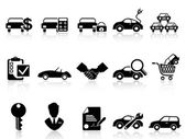 Car dealership icons set — Stock Vector