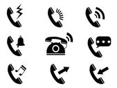 Phone ring icons — Stock Vector