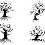 Halloween trees — Stock Vector #33160685