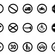 Road sign icons set 	 — Stok Vektör