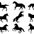 Horse Silhouettes — Stock Vector #33160707