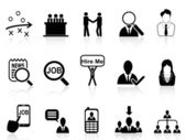 Job search icons set — Stock Vector