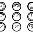 Gauge icons — Stock Vector