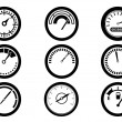 Gauge icons — Stock Vector #34588971