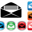 Email buttons set — Stock Vector #38821697