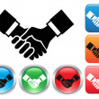 Handshake buttons — Stock Vector