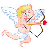 Funny cupid — Stock Vector