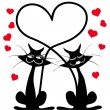 Cats in love — Stock Vector #39963183