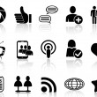 Social Networking and communication icons set — Stock Vector #39963311